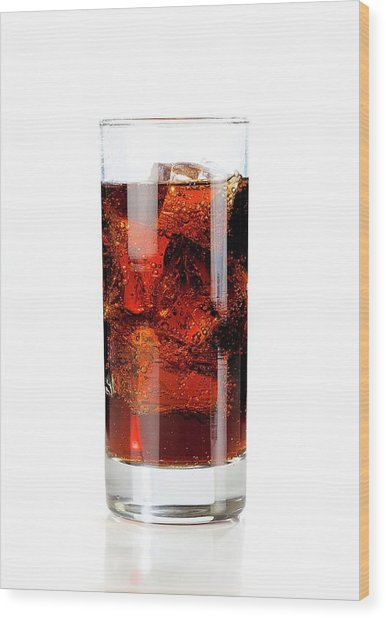Cold Fizzy Drink Wood Print