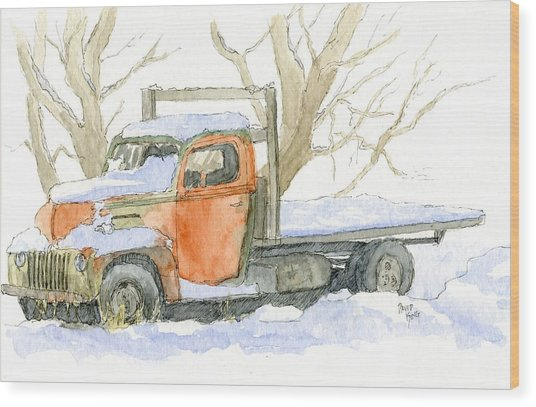 Cold Ford Wood Print