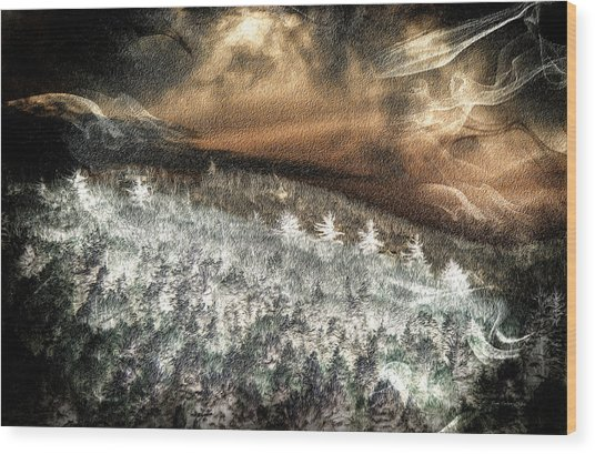 Cold Mountain Wood Print