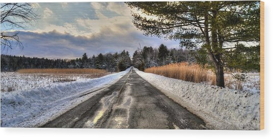 Cold Spring Road - Berkshire County Wood Print