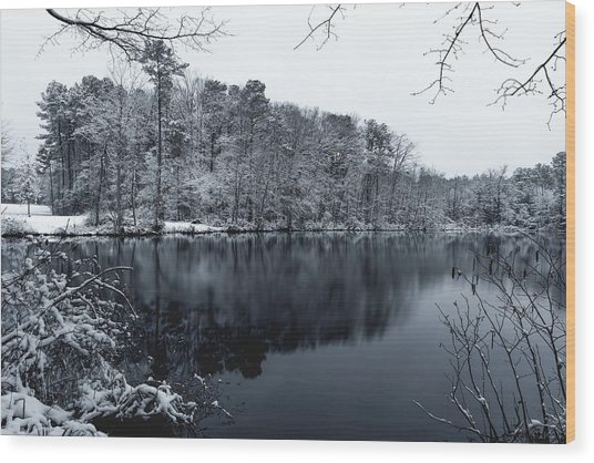 Cold Water Wood Print
