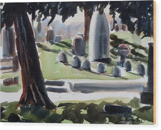 Cole Porter Burial Site Wood Print