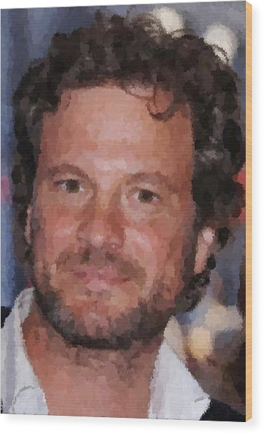 Colin Firth Portrait Wood Print