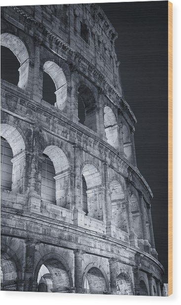 Colosseum Before Dawn Wood Print