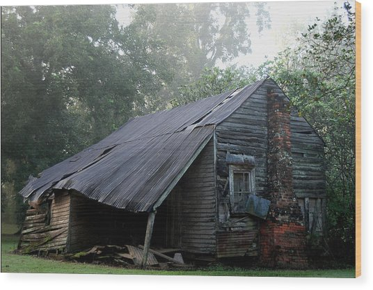 Collapsed Wood Print by Larry Primeaux