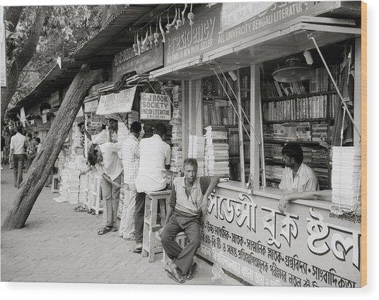 College Street Calcutta  Wood Print