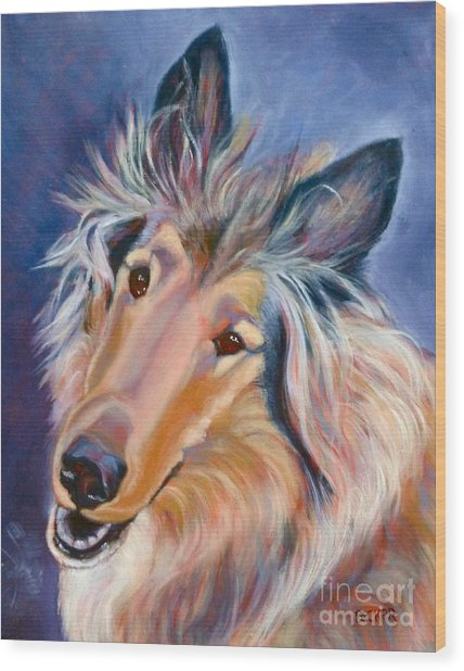 Collie Star Wood Print