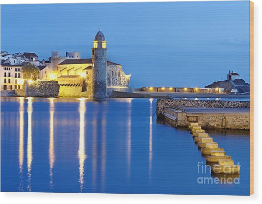 Collioure Harbour France Wood Print