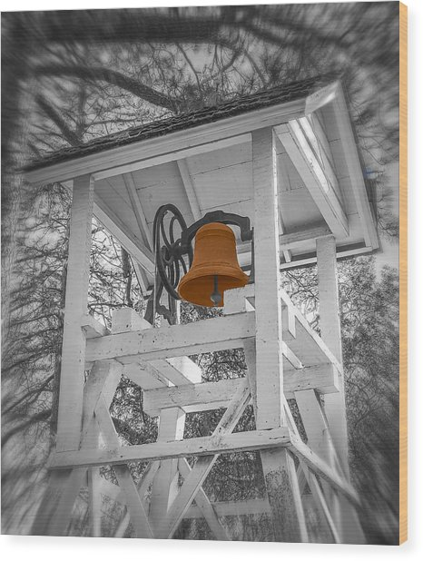 Coloma Church Bell Wood Print