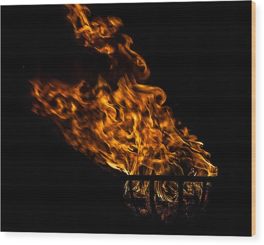 Fire Cresset Wood Print