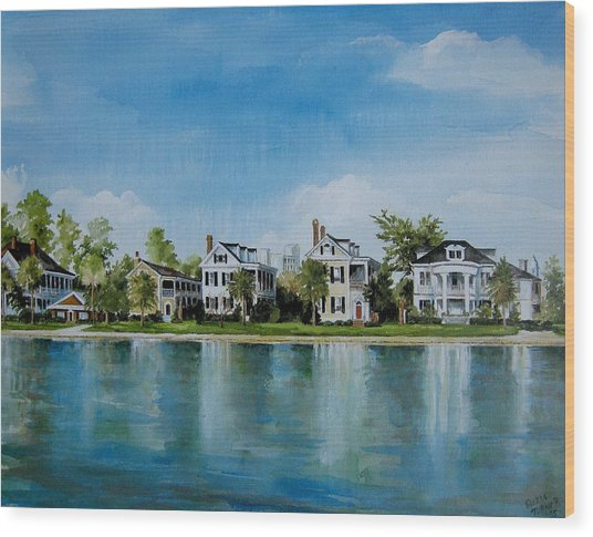 Colonial Lake In Charleston  Wood Print