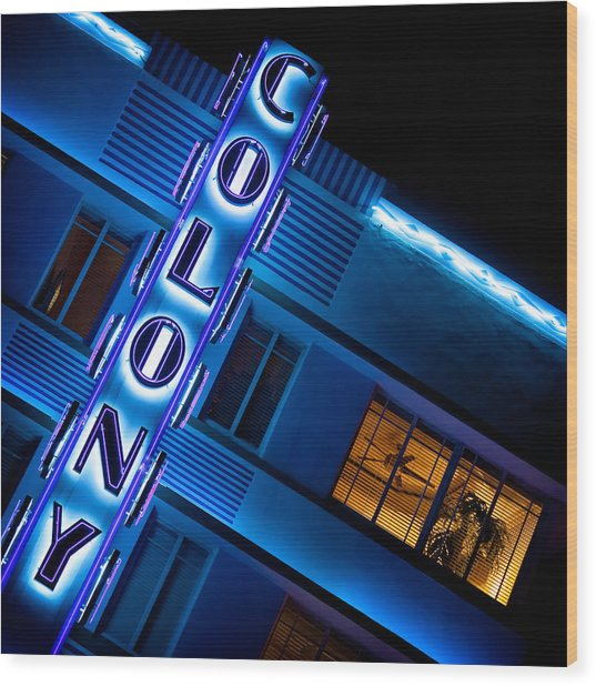 Colony Hotel 1 Wood Print
