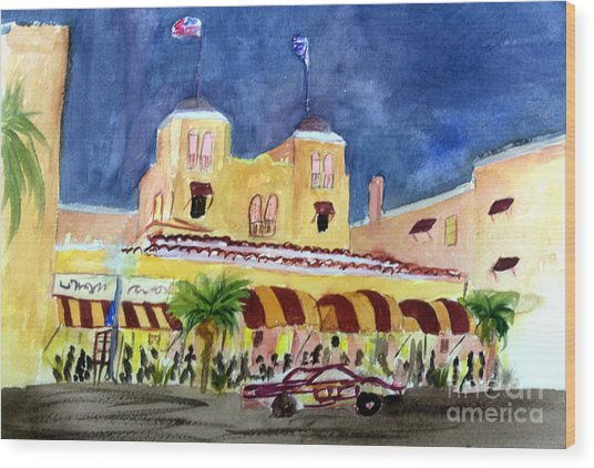 Colony Hotel In Delray Beach Wood Print