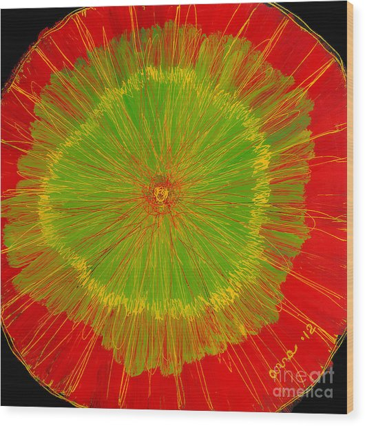 Color Burst 2 Wood Print