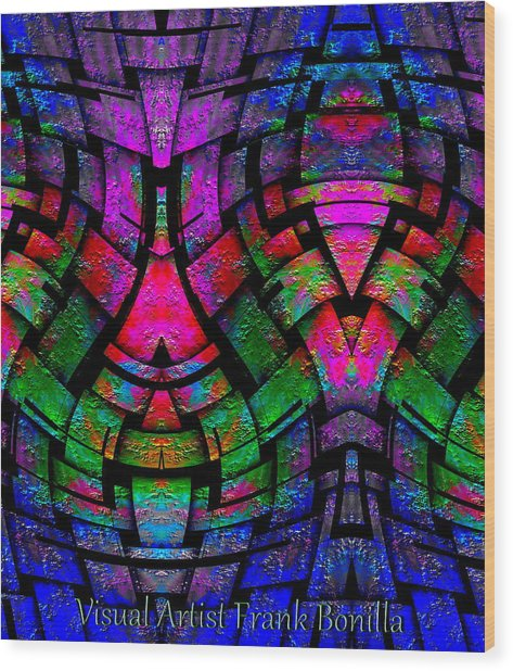 Wood Print featuring the digital art Color By Jesus by Visual Artist Frank Bonilla