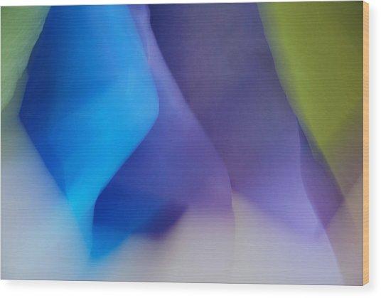 Color Crimp Wood Print