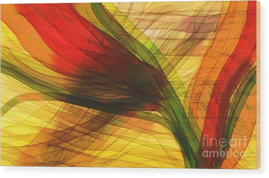 Color Flow Wood Print by Hilda Lechuga