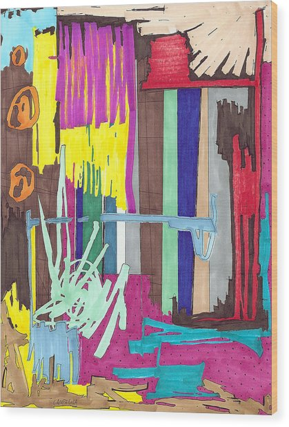 Color Fun Iv Wood Print by Teddy Campagna
