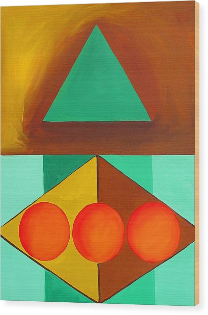 Color Geometry - Triangle Wood Print
