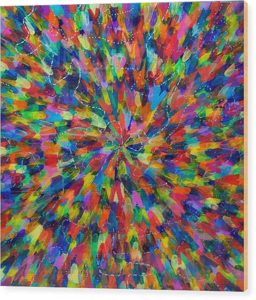 Color Implosion Wood Print by Patrick OLeary