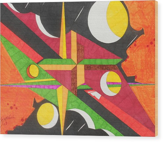 Color In Time Wood Print by Willie McNeal