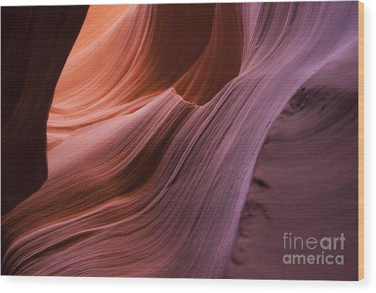 Color Wave Wood Print