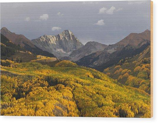 Colorado 14er Capitol Peak Wood Print