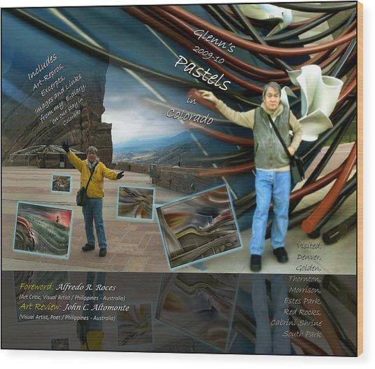 Colorado Art Book Cover Wood Print