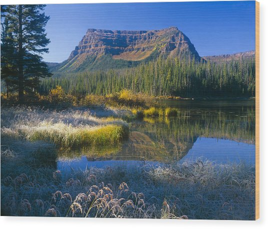 Trapper's Lake Sunrise Wood Print