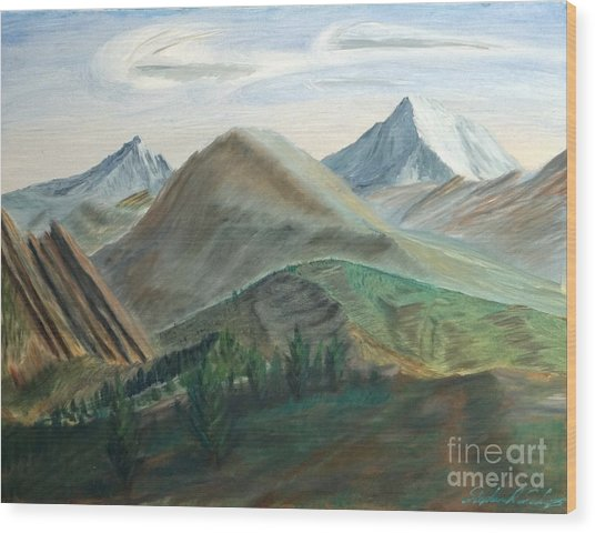 Colorado Flatirons And Hogback Wood Print by Stephen Schaps