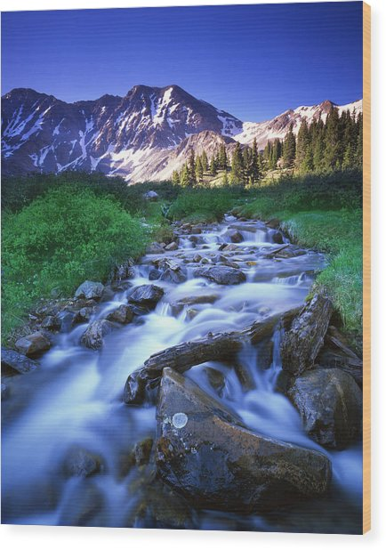 Colorado High Country Wood Print