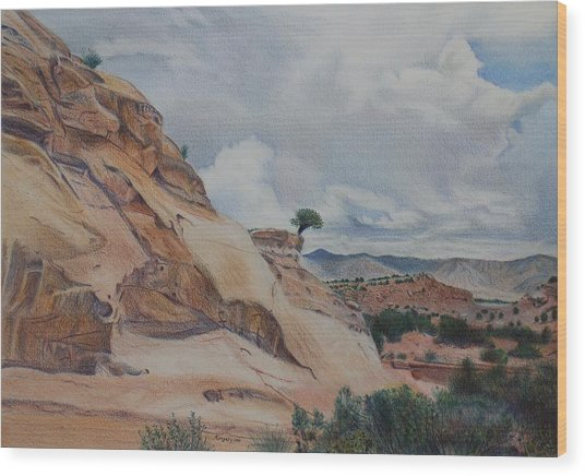 Colorado Monument Country Wood Print