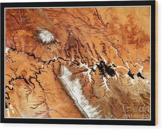 Wood Print featuring the photograph Colorado Plateau Nasa by Rose Santuci-Sofranko