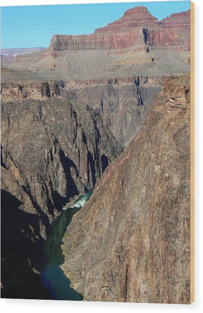 Colorado River From Plateau Point Wood Print
