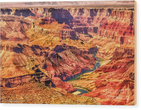Colorado River 1 Mi Below 100 Miles To Vermillion Cliffs Utah Wood Print