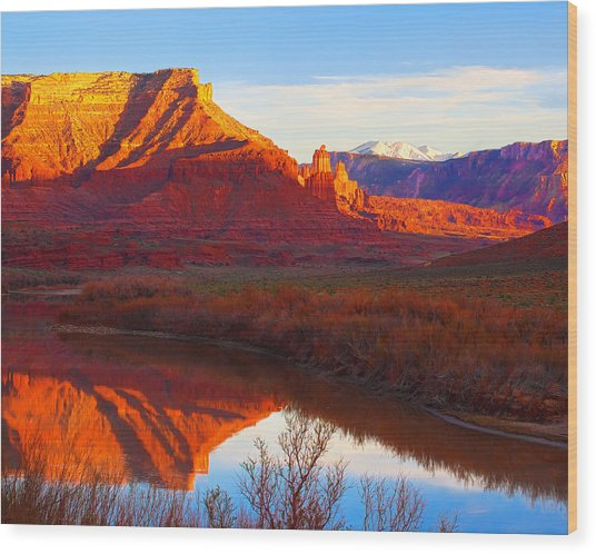 Colorado River Reflections Wood Print
