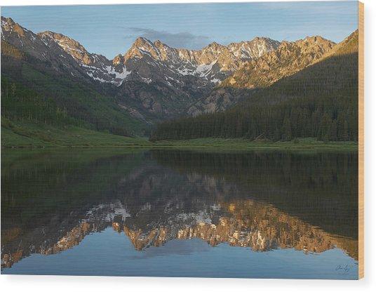 Colorado Sunset - Piney Lake Wood Print