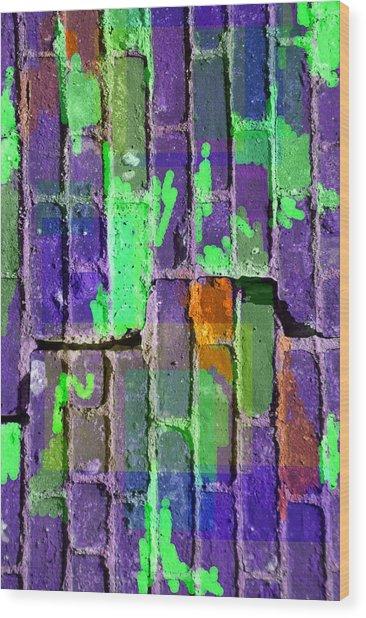 Colored Brick And Mortar 4 Wood Print