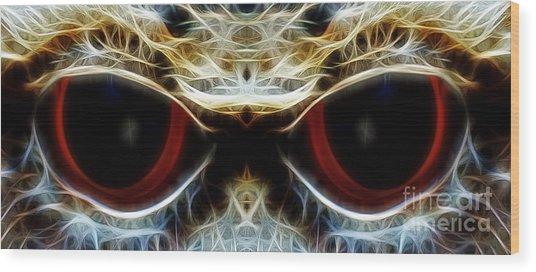 Colored Eyes Wood Print