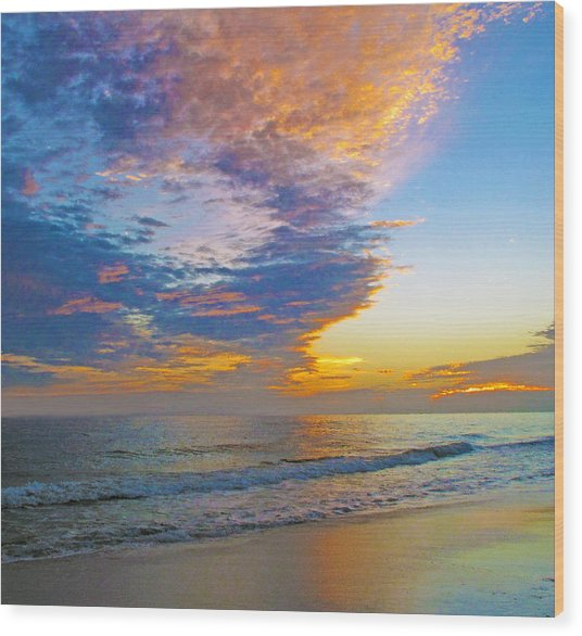 Colored Ocean Wood Print