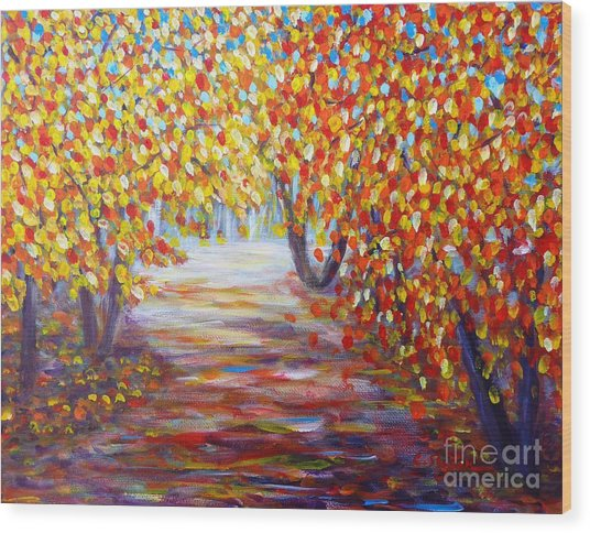 Colorful Autumn Wood Print