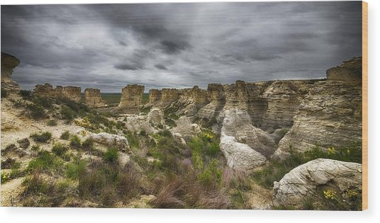 Colorful Canyons Wood Print