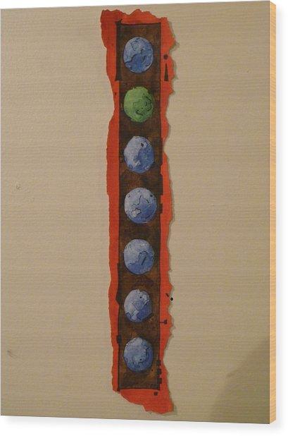 Colorful Circles Seven Wood Print