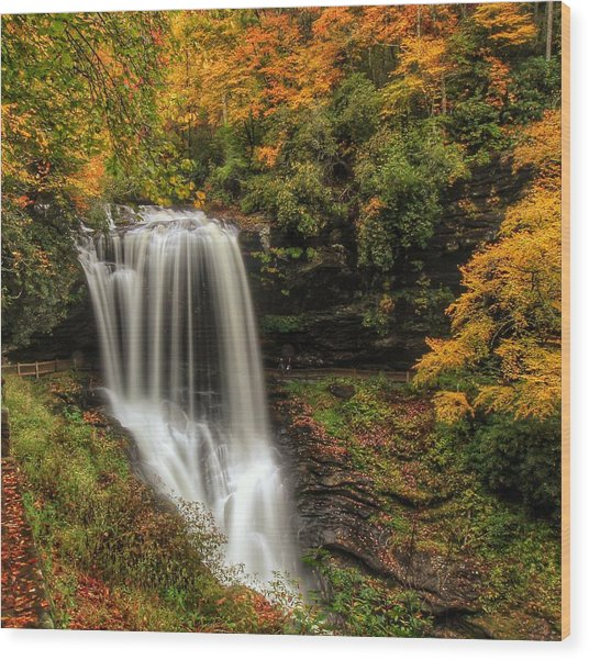 Colorful Dry Falls Wood Print