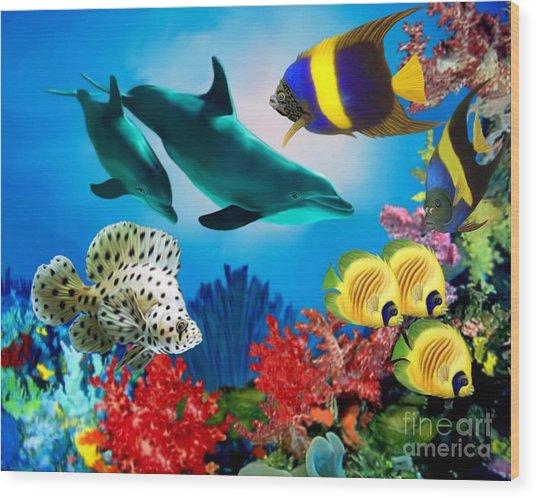 Colorful Fish Wood Print