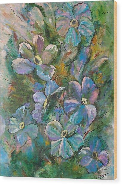 Colorful Floral Wood Print