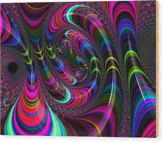 Colorful Fractal Art Wood Print