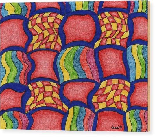 Colorful Life Wood Print