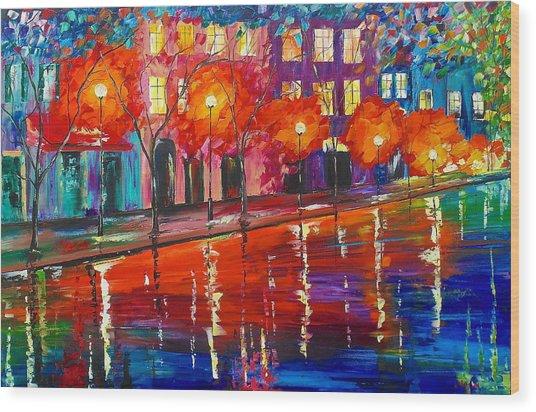 Colorful Night Wood Print
