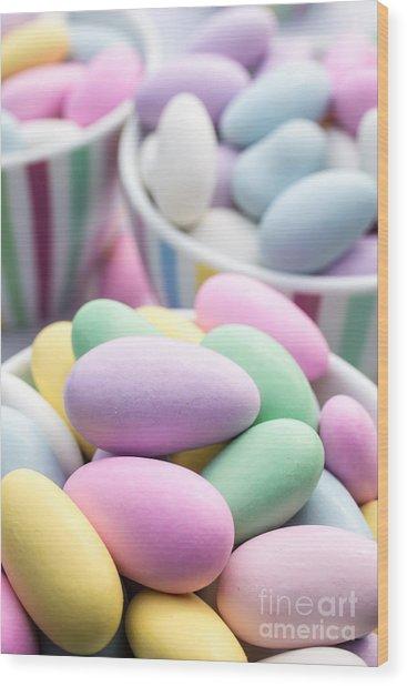 Colorful Pastel Jordan Almond Candy Wood Print
